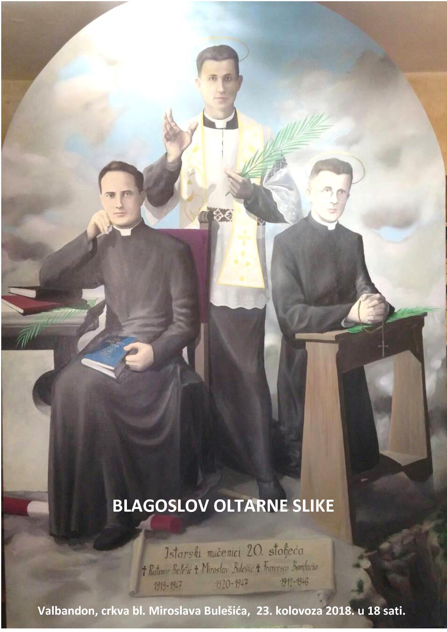 Blagoslov oltarne pale posvećene istarskim mučenicima