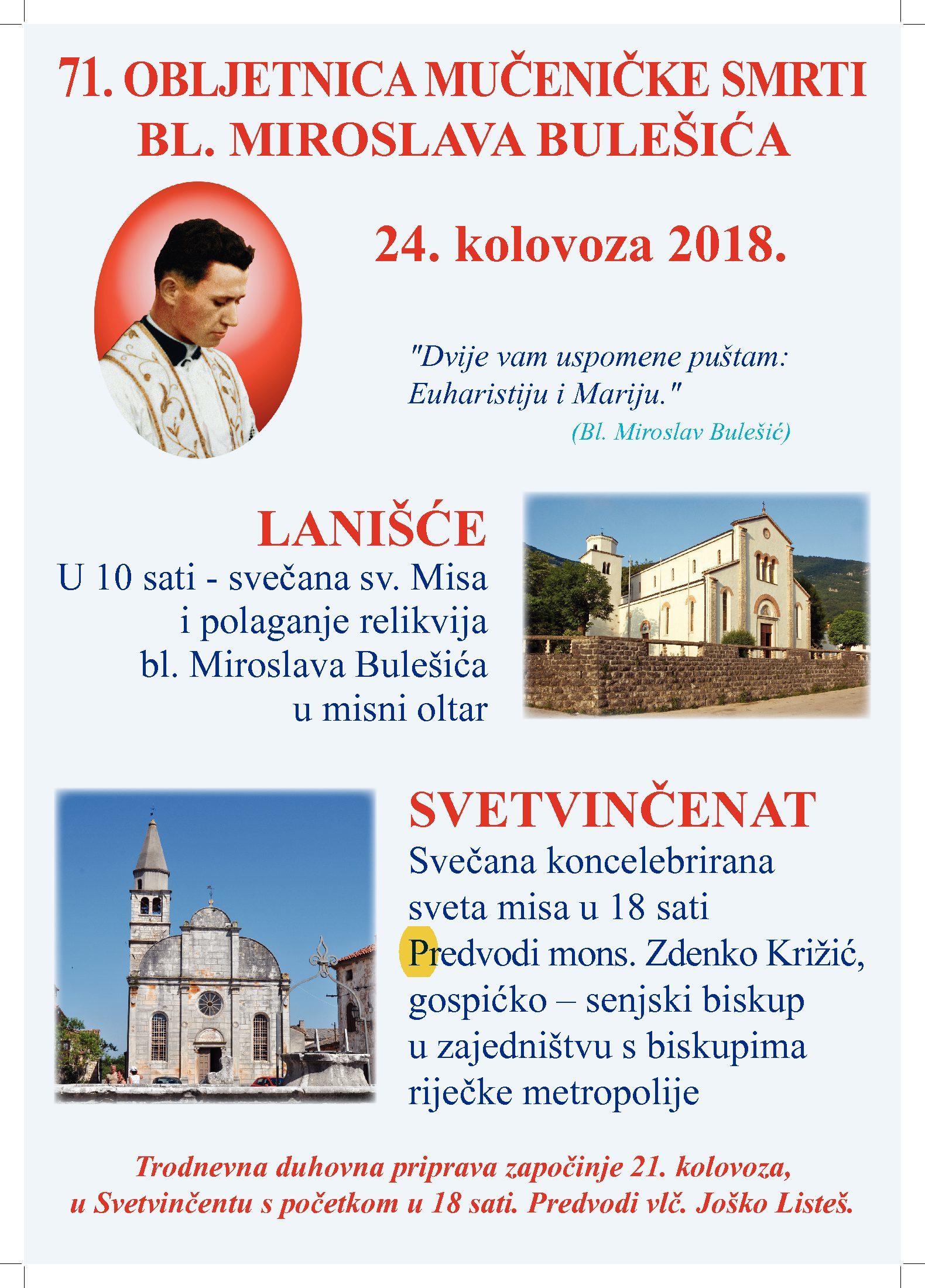 Proslava godišnjice mučeniče smrti. bl. MIroslava Bulešića